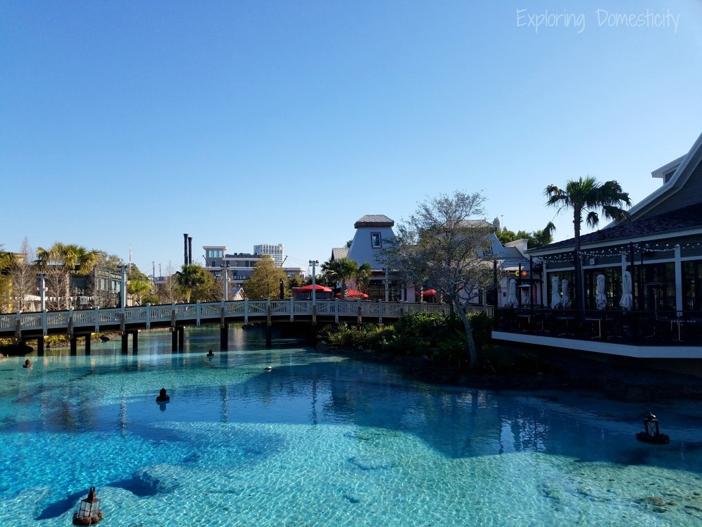 Disney Springs gorgeous blue water