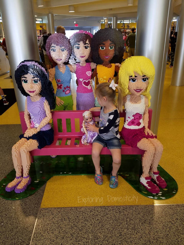 Disney Springs Lego Store with Disney Precious Moments Doll