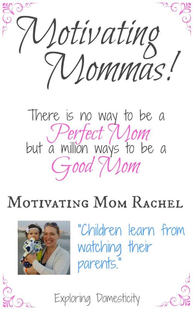 "Motivating Mom Rachel: Children learn from watching their parents."" (Fit Mom, healthy family, healthy kids)"