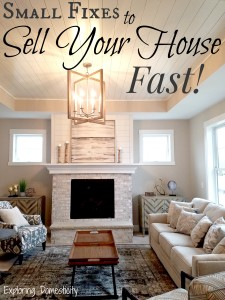 Small Fixes to Sell Your House FAST!