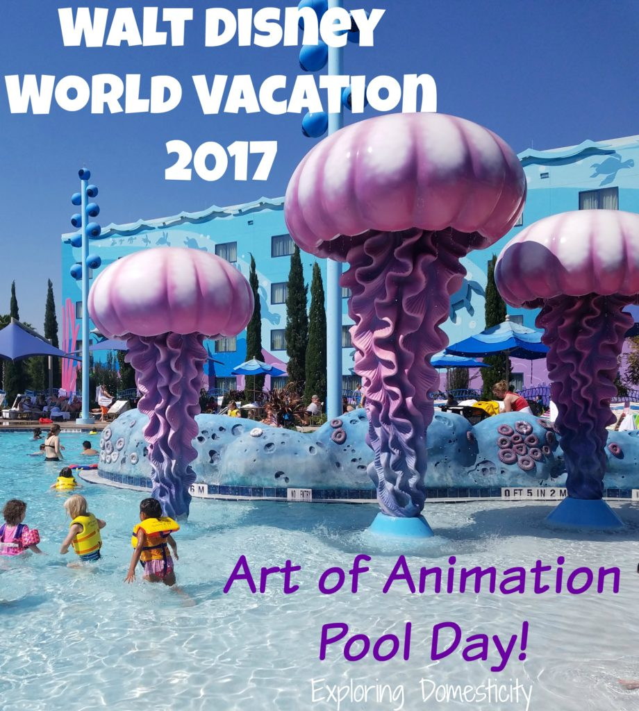 Walt Disney World Vacation 2017 Art of Animation Pool Day