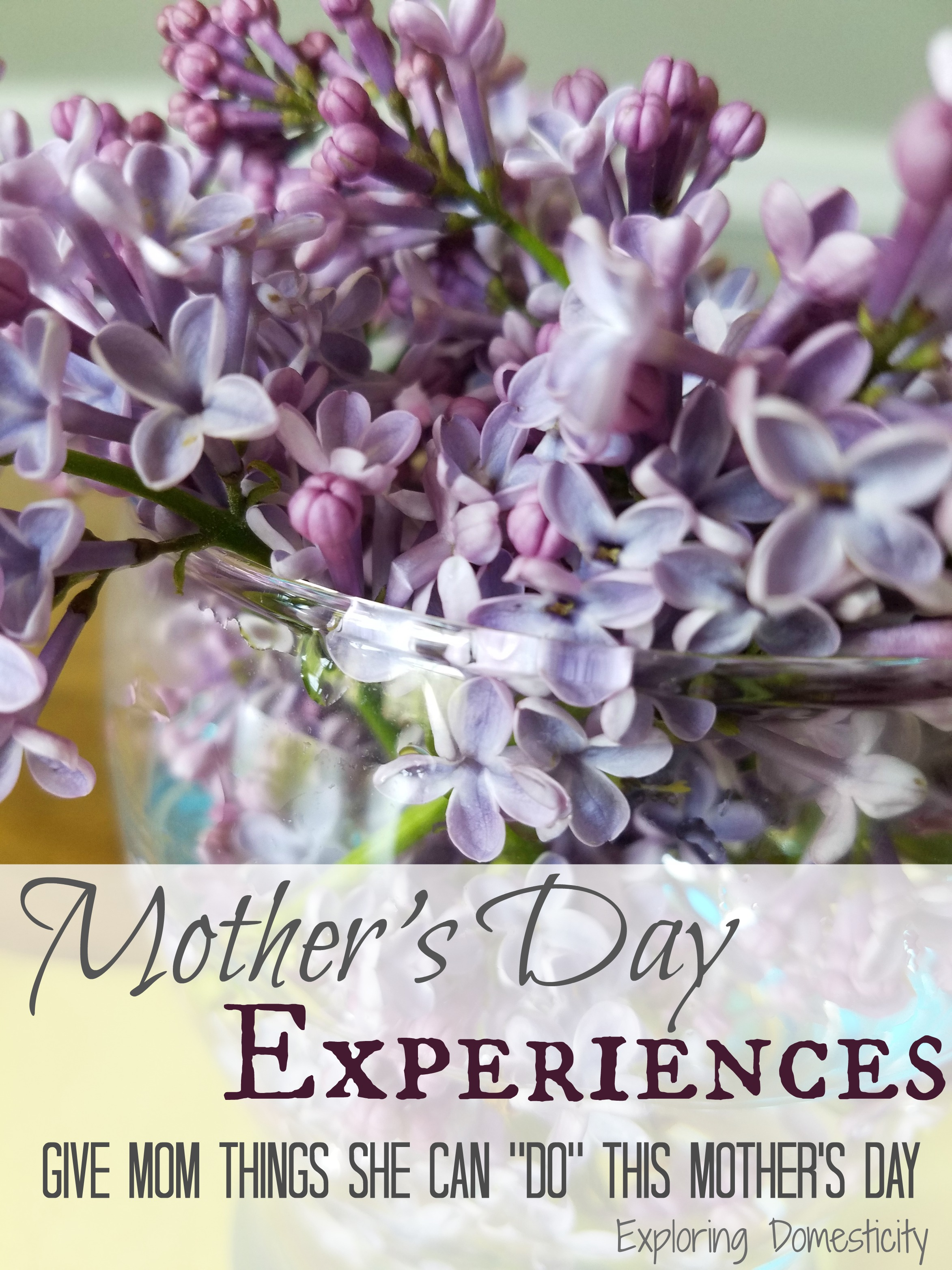 Mother s Day Experiences Instead of Gifts ⋆ Exploring Domesticity