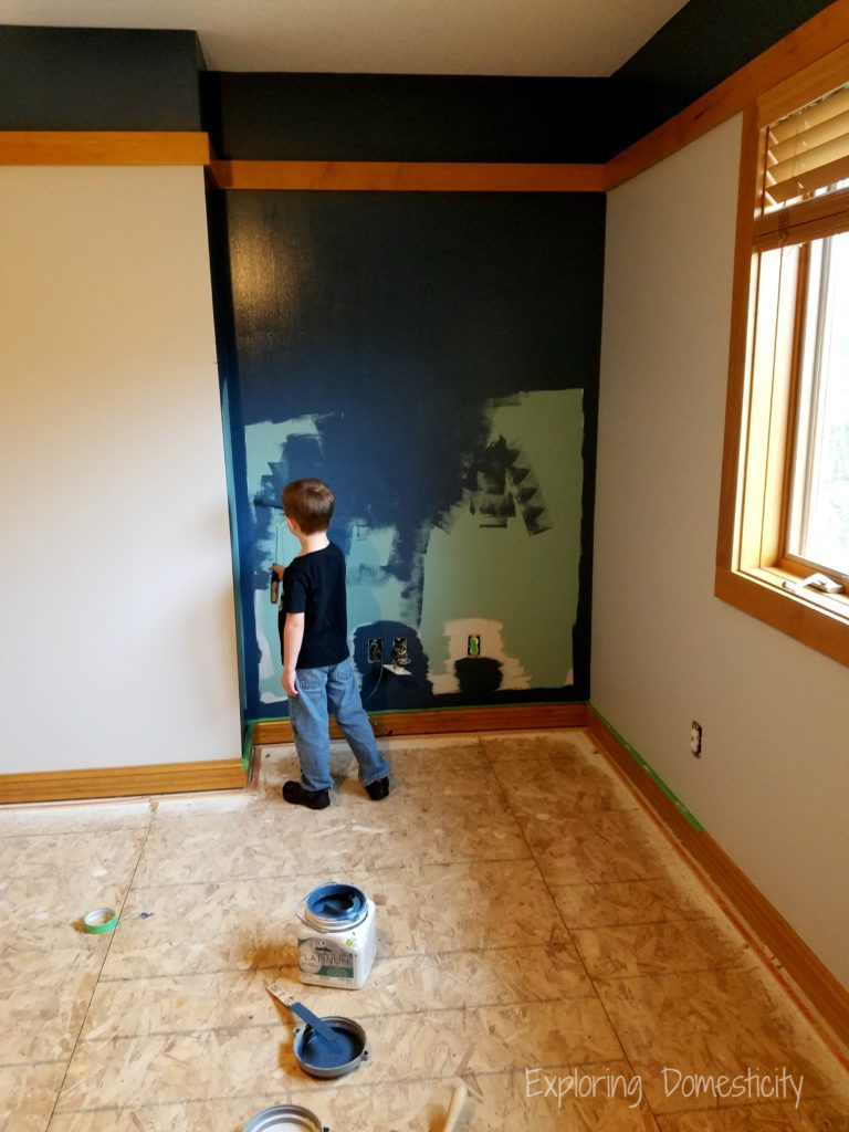 Boys Room Blue Accent Wall