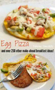 Egg Pizza Make Ahead Breakfast