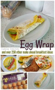 Egg Wrap and over 250 other make ahead breakfast ideas