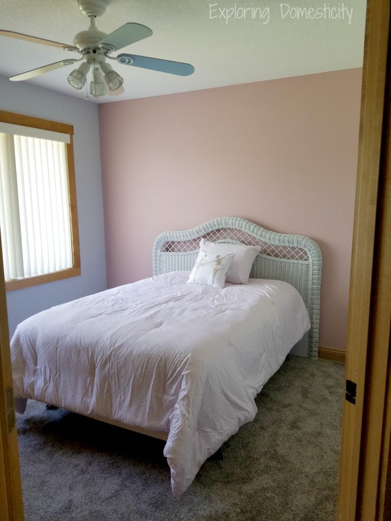 Girls Room Pink Accent Wall