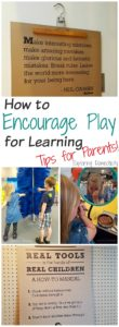 How to Encourage Play for Learning - Tips for Parents
