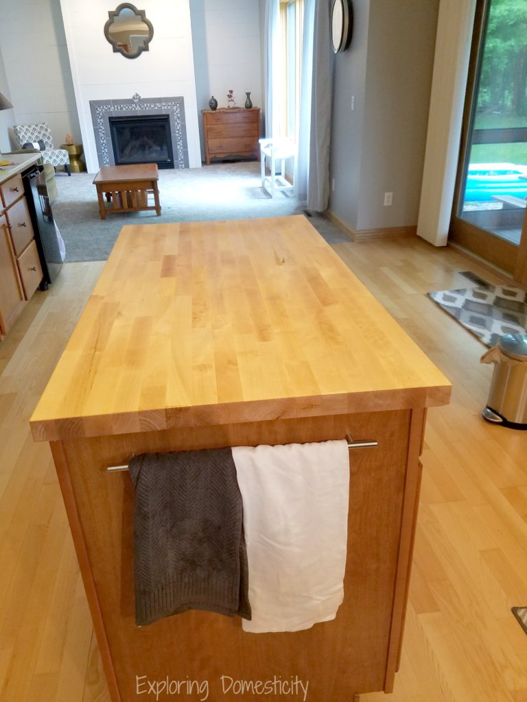 Kitchen Remodel - butcher block island