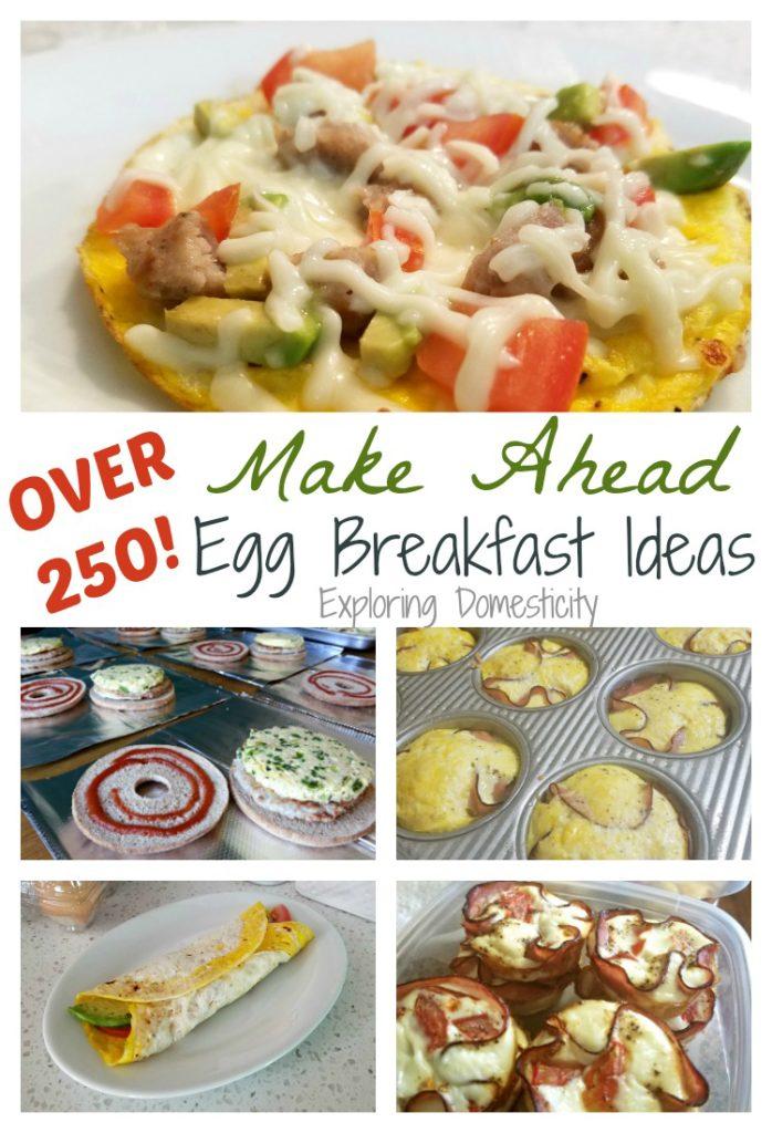 Over 250 Make Ahead Egg Breakfast Ideas