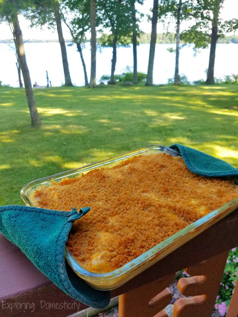 Chicken Artichoke Casserole at the lake