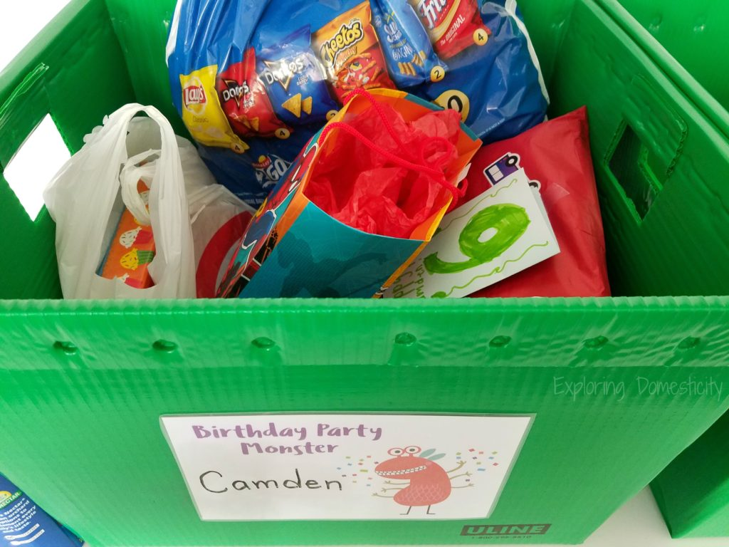 MN Children's Museum Birthday Party - storing presents