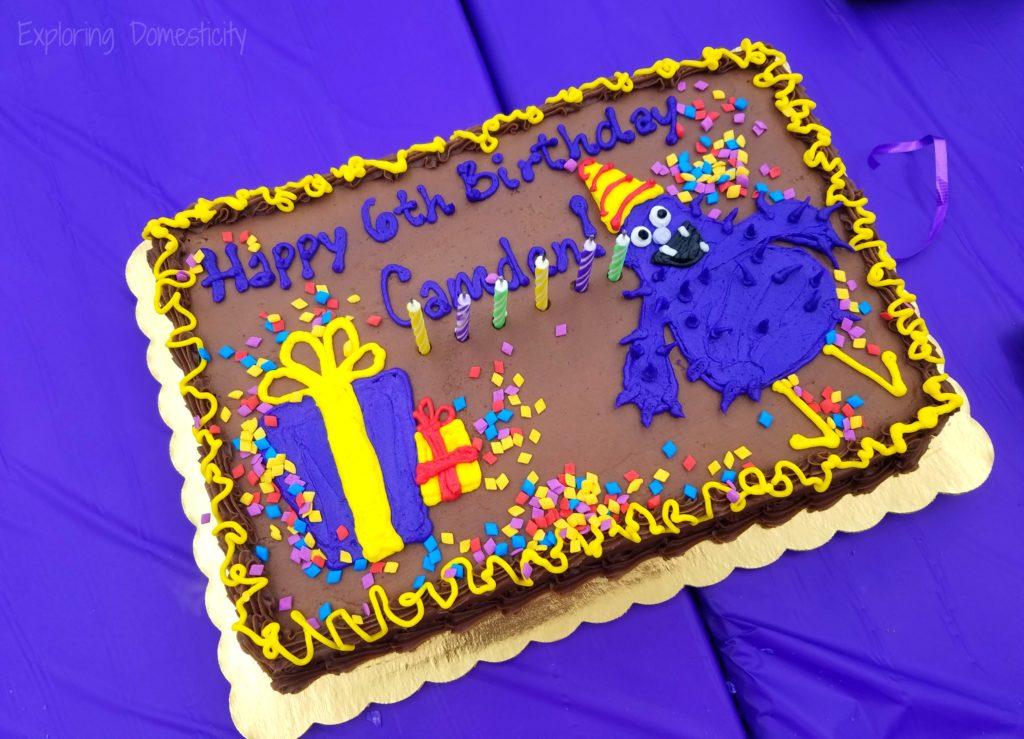 Minnesota Children's Museum Birthday Cake - Monster birthday cake