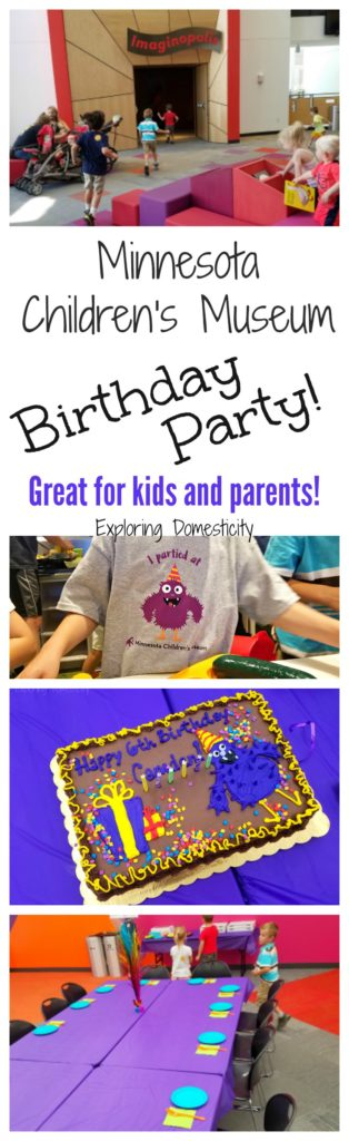 Minnesota Children's Museum Birthday Party - great for kids and parents