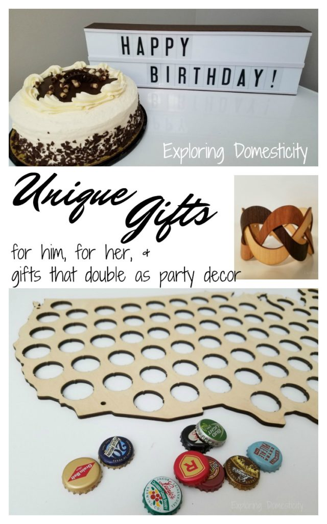 Unique Gifts for men, women, and those that double as party decor
