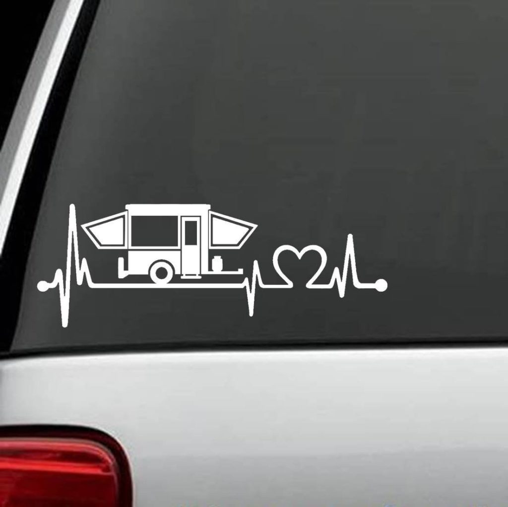 Pop Up Camper Lifeline Window Decal