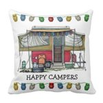 Happy Camper Pop Up Camper Pillow
