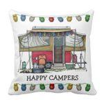 Happy Camper Pop Up Camper Pillow