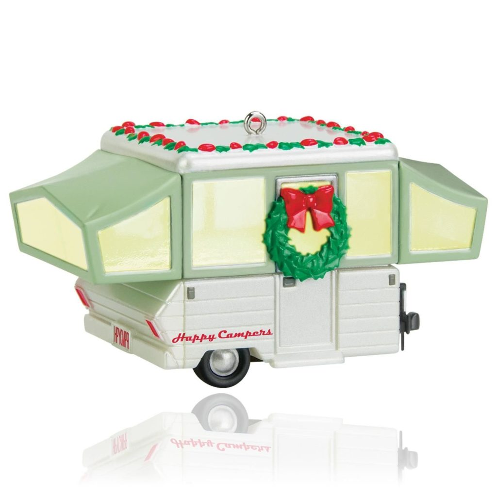 Pop Up Camper Christmas Tree Ornament