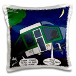 funny pop up camper pillow