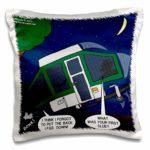 funny pop up camper pillow