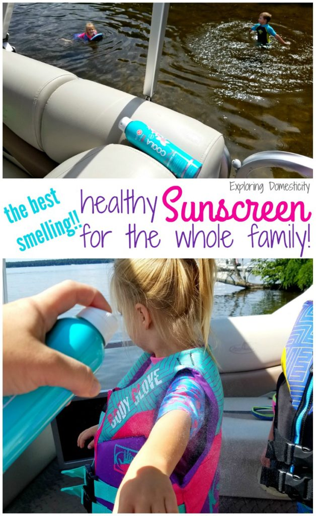 Best smelling healthy sunscreen for the whole family - COOLA sunscreen spray