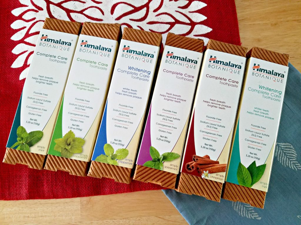 Himalaya Botanique Toothpaste flavors