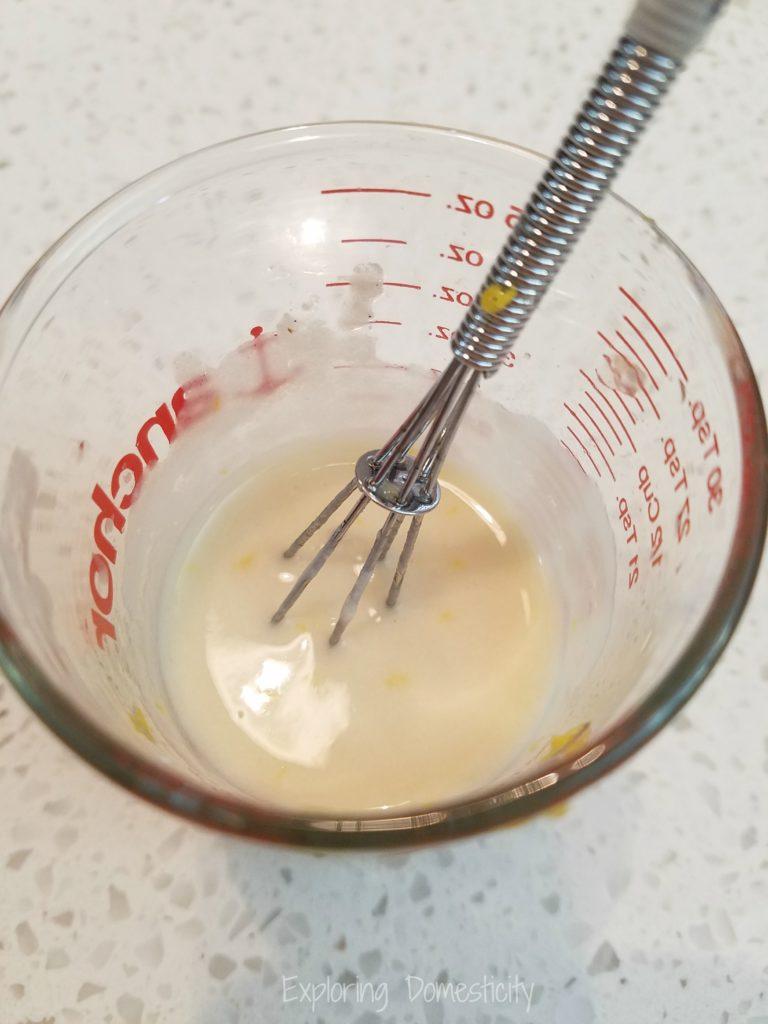 Lemon Protein Glaze - Just vanilla protein powder, water, lemon