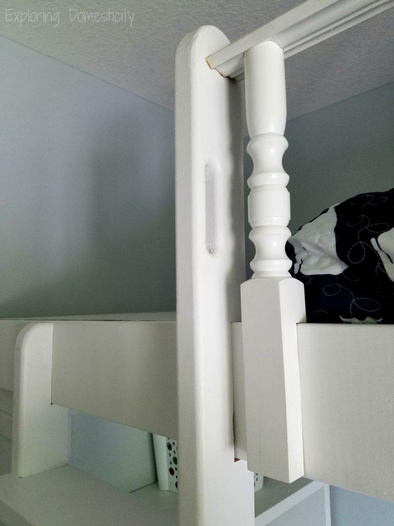 Play Room Loft Bed - DIY bed, ladder, spindles