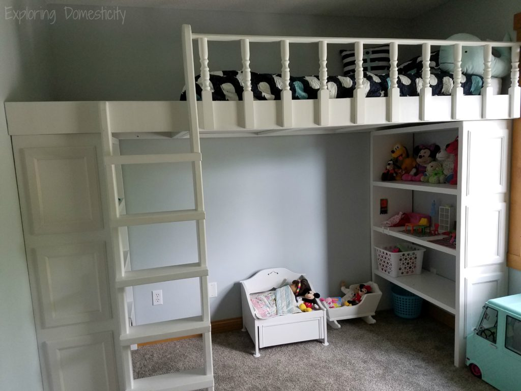 Play Room Loft Bed - DIY loft bed with storage for toys