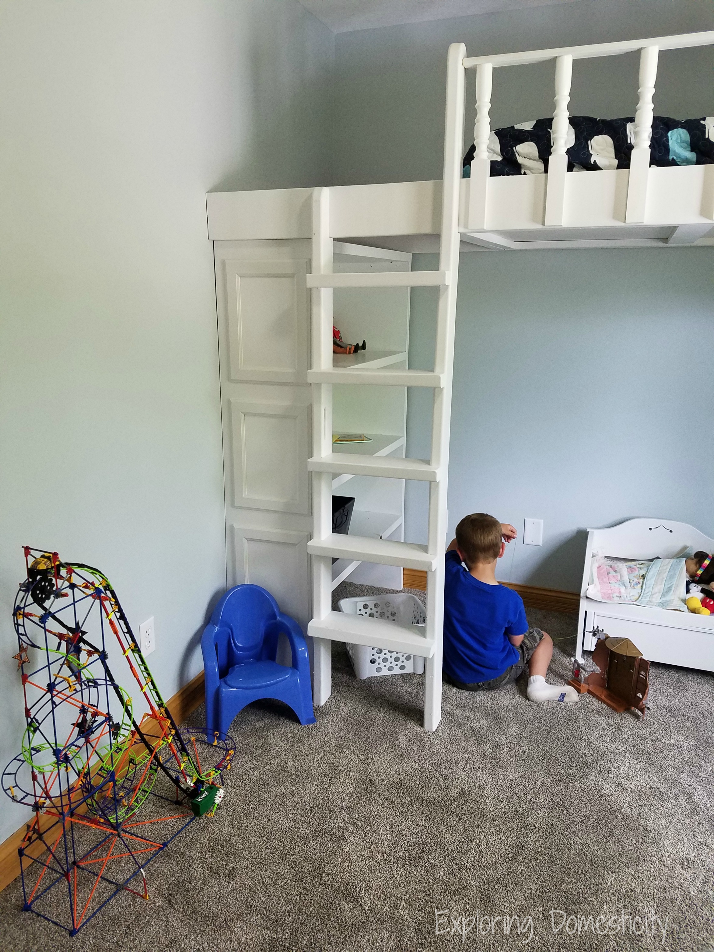 play loft table bed a and diy desk pinterest how loftbed build storage to lofted with