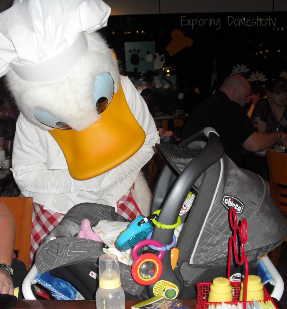 Walt Disney World with a Baby - Character Dining