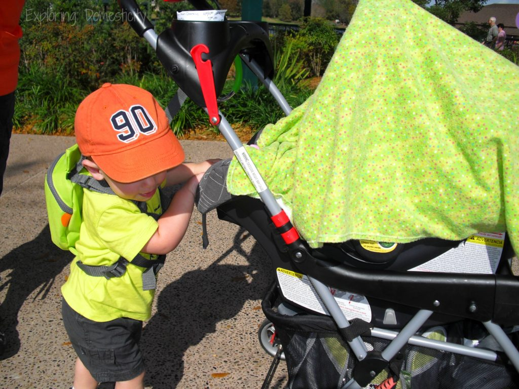 Walt Disney World with a Baby - pushing stroller