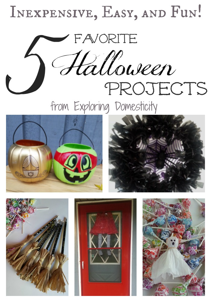 5 Favorite Halloween Projects - Class treats, pumpkins, and decorations