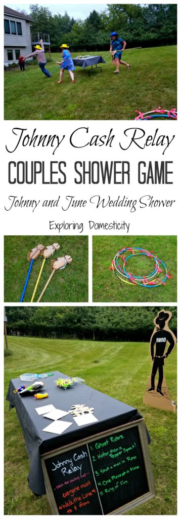 Johnny Cash Relay Couples Shower Game for Johnny and June Wedding Shower