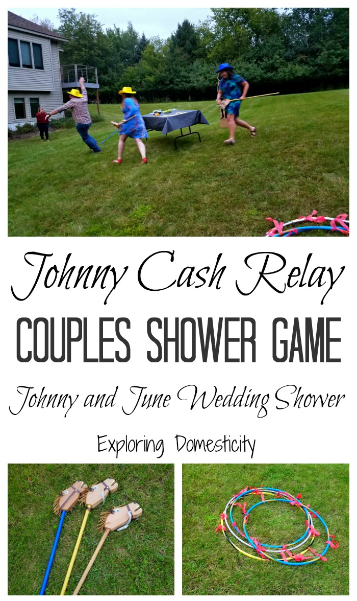 Johnny Cash Relay Couples Shower Game for Johnny and June themed Wedding Shower