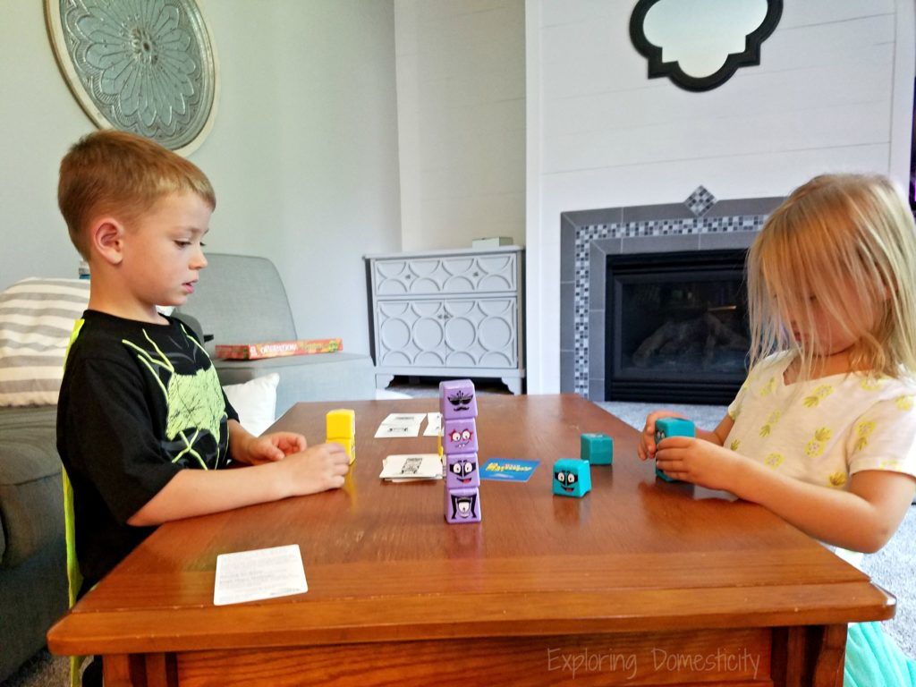 Kids playing Lumpy Cubes from RoosterFin - fun and easy kids game for matching patterns