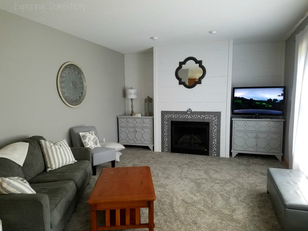 Diy Faux Shiplap Fireplace Wall ‹� Exploring Domesticity