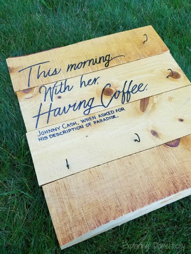This Morning Having Coffee with Her - Johnny Cash quote coffee mug display