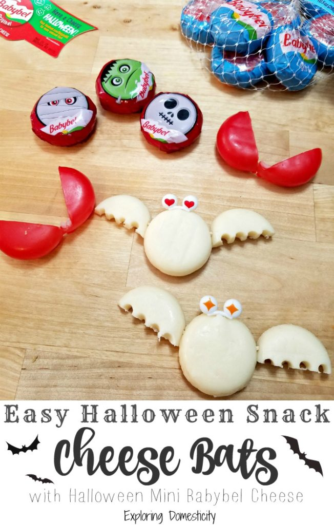 Easy Halloween Snack - Cheese Bats! - with Halloween Mini Babybel Cheese