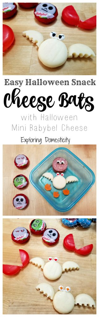 Easy Halloween Snack Cheese Bats with Mini Babybel Cheese - and other quick ideas