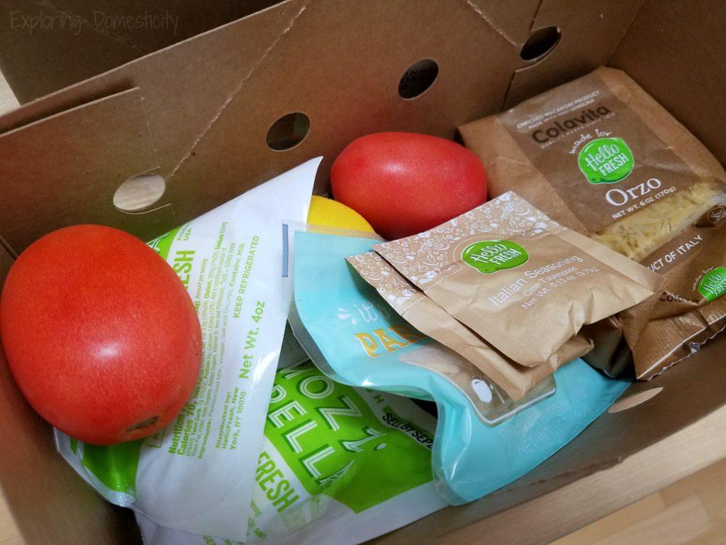 Hello Fresh Ingredients Box
