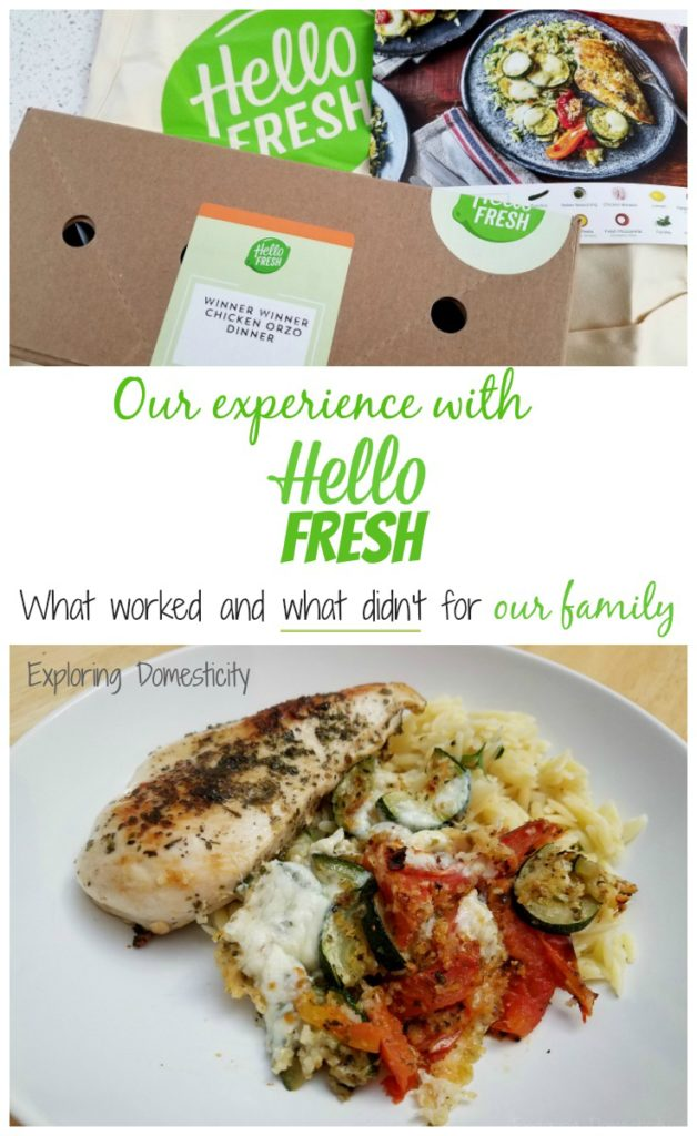 Our experience with Hello Fresh - what worked and what DIDN'T for our family