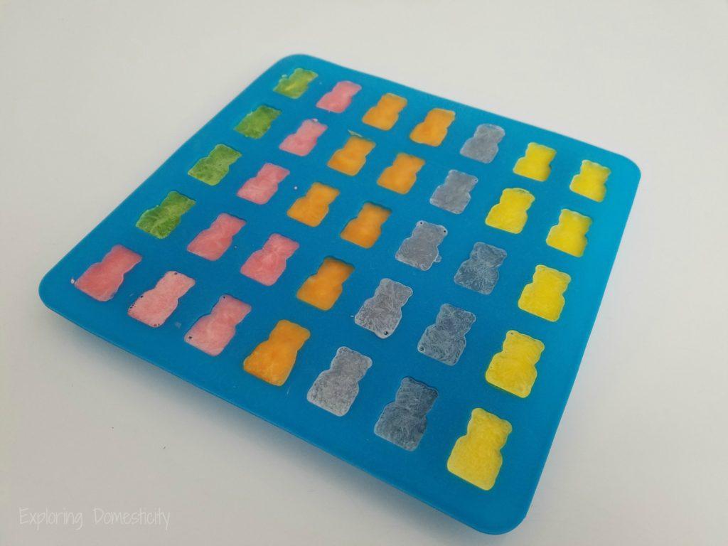 Rainbow Yogurt Bites - Bear Bites silicone mold