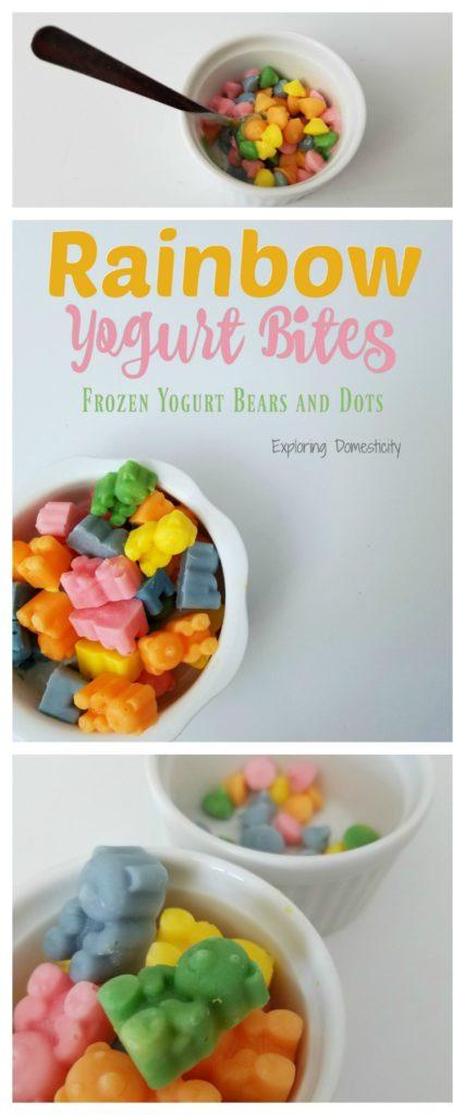 Rainbow Yogurt Bites - Frozen Yogurt Bears and Bites - Colorful and Healthy Snacks for Kids