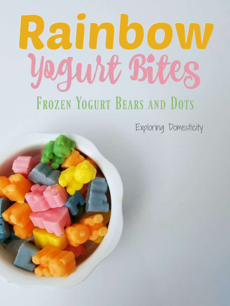 Rainbow Yogurt Bites - Healthy Snack Kids love with Frozen Yogurt Bears and Dots