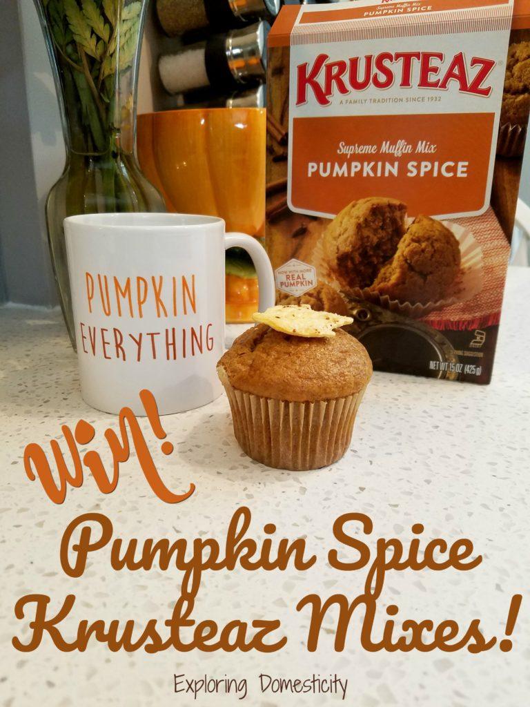 Win! Krusteaz Pumpkin Spice Mixes