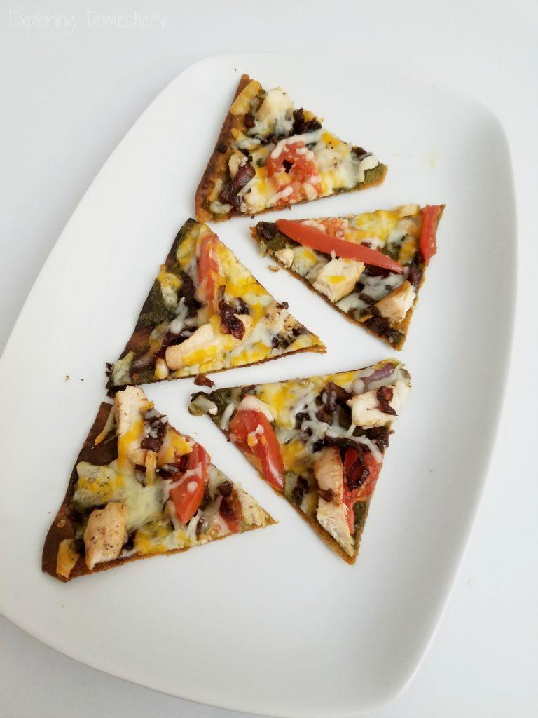 Balsamic Onion Pesto Chicken Pizza