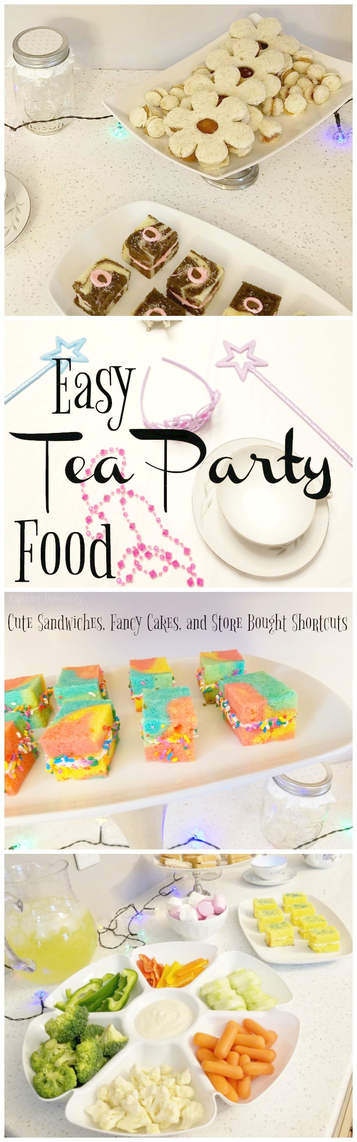 Easy Tea Party Food: Cute sandwiches, fancy cakes, and store bought ...