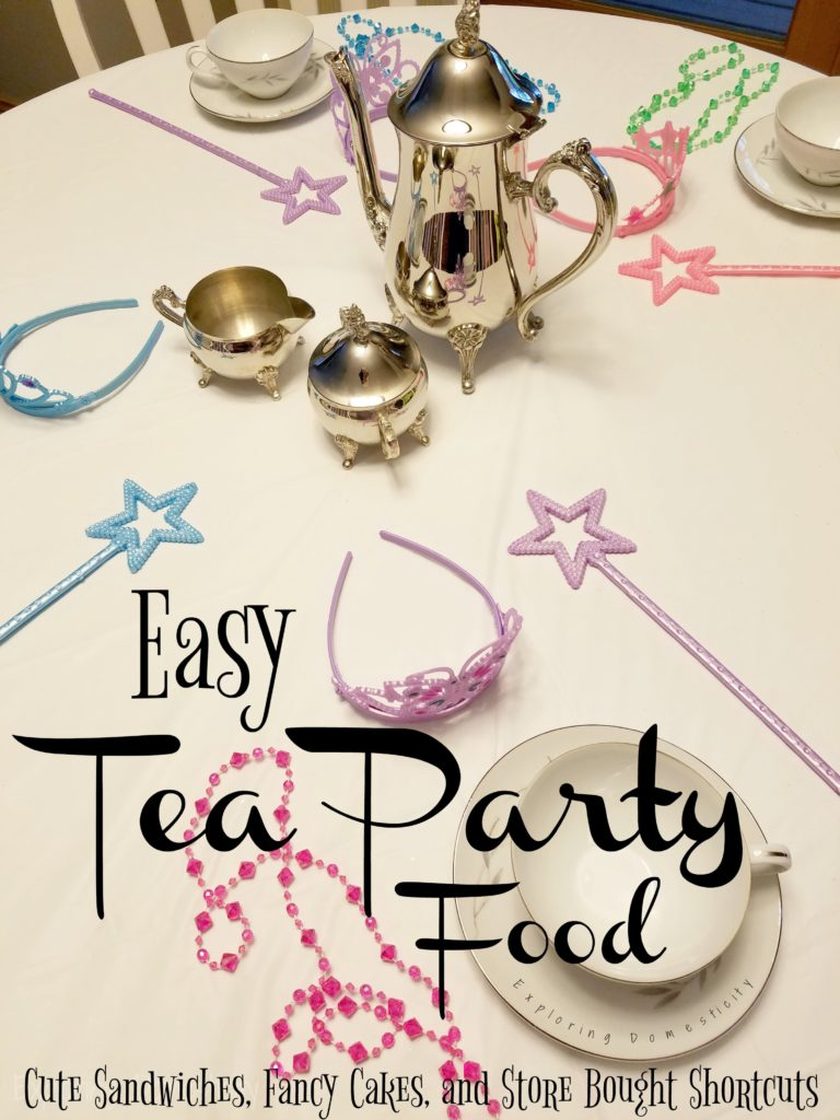 Easy Tea Party Food for a Fairy Tea Party Birthday - Cute Sandwiches, Fancy Cakes, and Store Bought Shortcuts