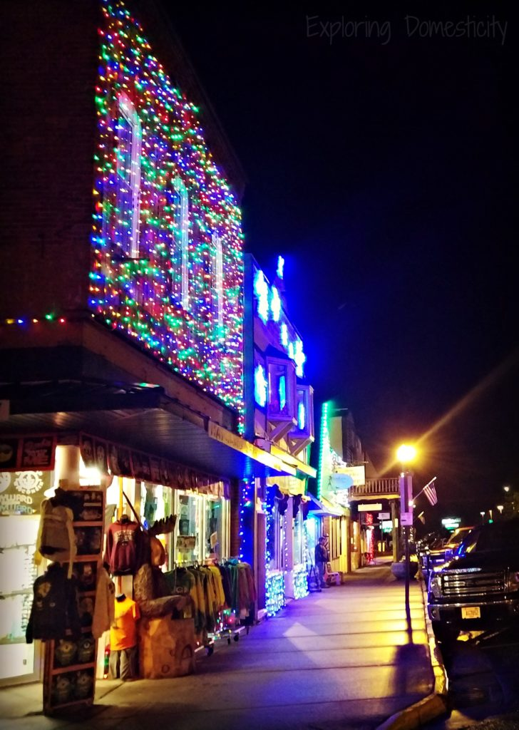 Memorable Holiday Moments - explore nearby events - Christmas lights on main street